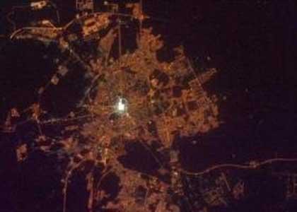 تصاویر شگفت انگیز مکه مکرمه و مسجدالنبی(ص) از ایستگاه فضایی بین المللی