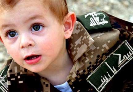 شعرخوانی یک کودک سوری، مانند قاسم(ع) جهاد خواهم کرد )