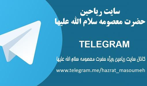 کانال سایت ریاحین ( ویژه حضرت معصومه سلام الله علیها )در تلگرام راهاندازی شد